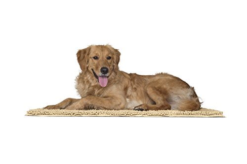 Furhaven Pet Dog Mat | Muddy Paws Towel & Shammy Rug, Sand (Tan), Large by Furhaven Pet