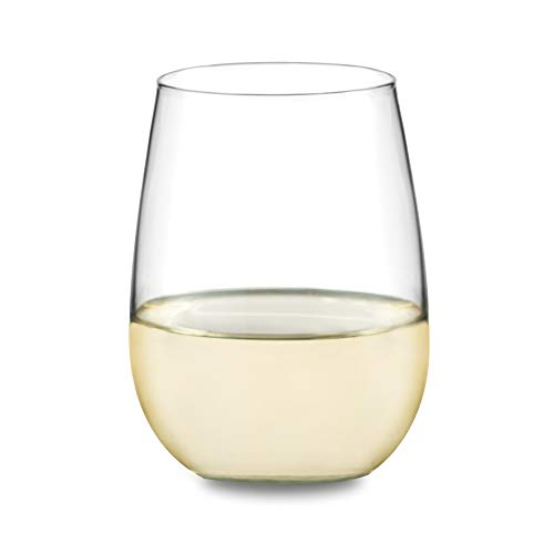 Libbey Vina Stemless White Wine Glasses, Set of 4