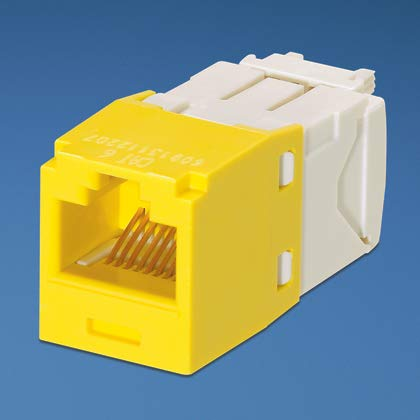 Panduit Mini-Com TX6 Plus Giga-Channel Cat6 Jack, Yellow, Box of 50 CJ688TGYL by Panduit