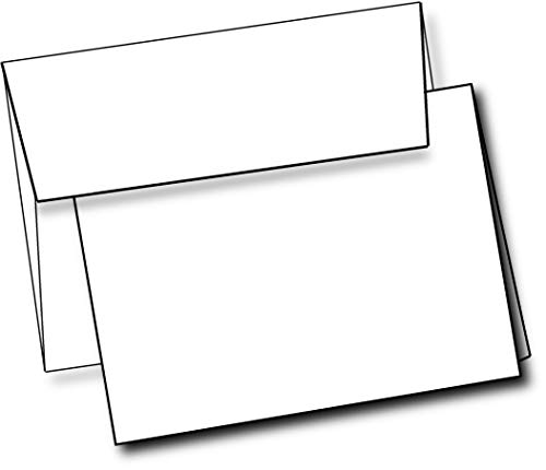 "Heavyweight White Blank Cards With White Envelopes 5""x 7"" Folded Greeting Cards Blank Cards And Envelopes Printable Note Cards With Corresponding Envelopes (40 Pack)"