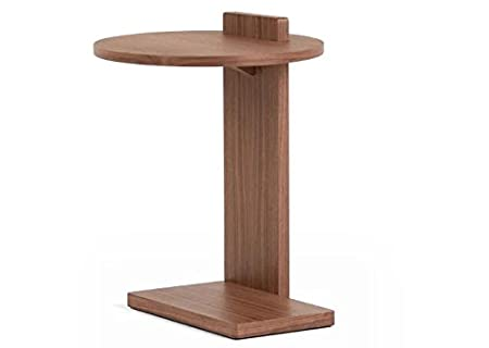 Single Leg Side Table In Walnut With Matte Finish U2013 Perfect Side Tables For  Any Hallway