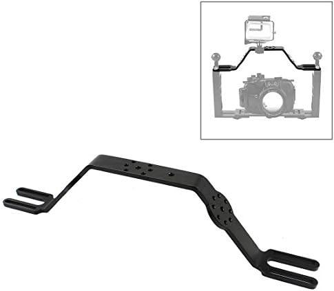 YWH-カメラダイビングアクセサリー ダイビングトレイブラケットデュアルハンドルグリップハンドヘルド拡張マウントシステム (色