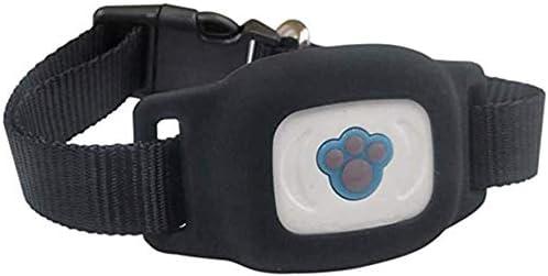 調節可能な防水GPSロケータアンチロストペットペットロケータ、ミニマイクログローバルブルーロケータ,黒