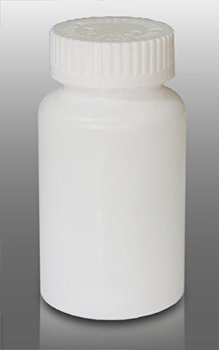 WHITE Prescription Pharmacy Vials 80 Dram Mega-Pro Vials (CR Caps Included) Pack of 60
