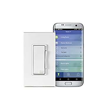 Leviton DW6HD-1BZ Decora Smart Wi-Fi 600W Incandescent/300W LED Dimmer, No Hub Required, Neutral Wire Required, Works with Amazon Alexa