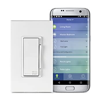 Leviton DW6HD-1BZ Decora Smart Wi-Fi 600W Incandescent/300W LED Dimmer, No Hub Required, Neutral Wire Required, Works with Amazon Alexa and Google Assistant