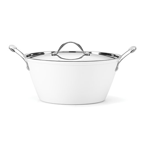 Food & Wine For Gorham Light Cast Iron 6 Quart Casserole, White