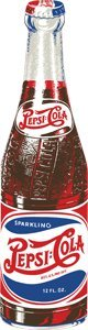 - Pepsi Bottle Die Tin Sign