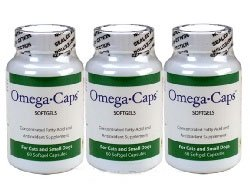 3 Pack Omega-Caps – For CATS and SMALL Dogs (180 Softgel Capsules), My Pet Supplies