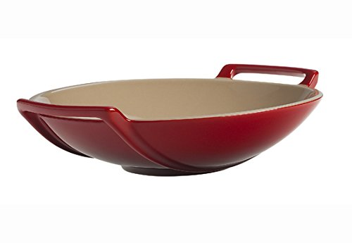 Le Creuset of America Stoneware Wok Dish, 28-Ounce, Cerise (Cherry Red) (Wok Oven compare prices)