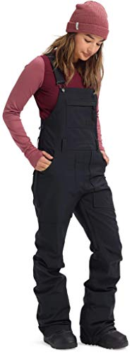 Burton Women's Avalon Bib Pant, True Black, Large (Bob And Terrys Ski And Sports Outlet)