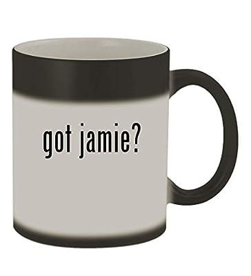 got jamie? - 11oz Color Changing Sturdy Ceramic Coffee Cup Mug, Matte Black