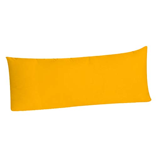 Body Pillowcase Pillow Cover Brushed Microfiber, Body Pillow Cover (20x54 Body Pillowcase, Yellow Gold - Envelope Closure) (Body Yellow Pillow)