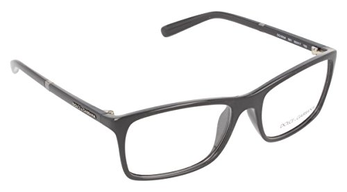 Dolce&Gabbana LIFESTYLE DG5004 Eyeglass Frames 2616-55 - Black - Gabbana Frames And Dolce Glass
