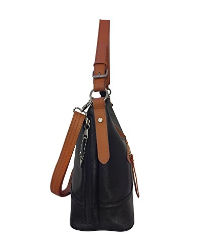 Leathers Cowhide Light Black Concealment Roma Leather Gun Bag Brown Rwgagdpq