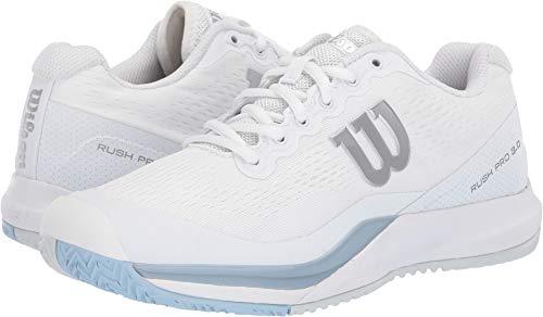 Wilson Rush Pro 3.0 Womens Tennis Shoe - White/Cashmere Blue/Illusion Blue - Size 8