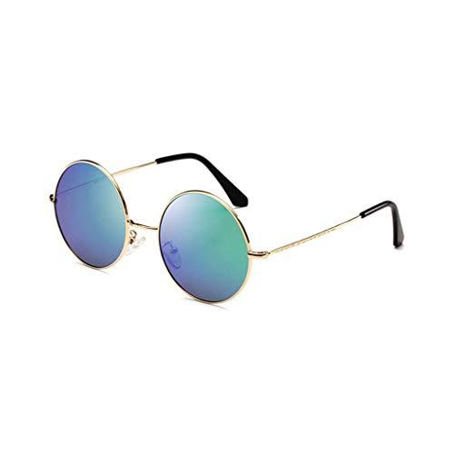 Hipster UV Hombre Gafas Running Vogue sol protección Retro Redondas F de de para Aviador UV Nuevas qw6vx7wfn
