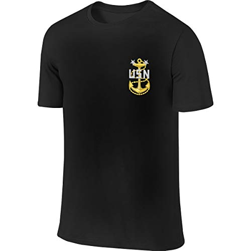 BEAKEAL MARIYO Navy Master Chief Petty Officer Men's Casual Short Sleeve Tee Shirts - Master Chief Navy