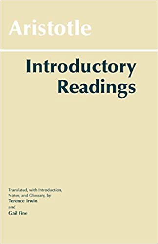 Aristotle: Introductory Readings (Hackett Classics) by Aristotle (1996-09-15)