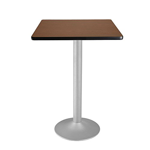 Square Flip-Top Cafe Table Silver Base - 30