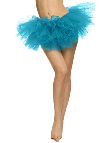 Courte Mini Sexy Bleu Danse YouPue Princesse De Ballet Jupon jupe Costume Jupe Jupe Tutu 5 Tulle Femme Jupe couches wxwPqTZU