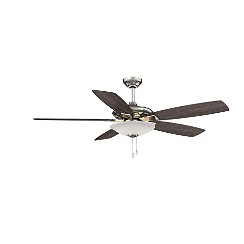 Hampton Bay, 14600, Menage 52 in. Integrated LED Indoor Ceiling Fan, Brushed Nickel