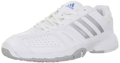 adidas Women's Bercuda 2.0 Tennis Shoe,Running White/Metallic Silver/Bright Blue,8.5 M US