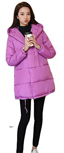 Outdoor Warm Capuchon Blouson Femme Manteau Chic Longues Elégante Lilas À Doudoune Désinvolte Quilting Manches Mode Battercake Hiver Large Épaissir 5Ywq8aC6x