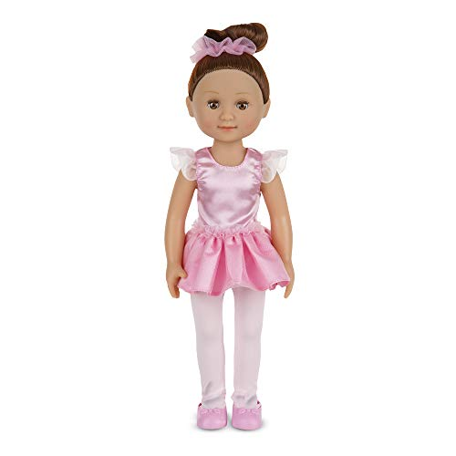 Melissa & Doug Victoria 14-Inch Poseable Ballerina Doll With Leotard and Tutu ()