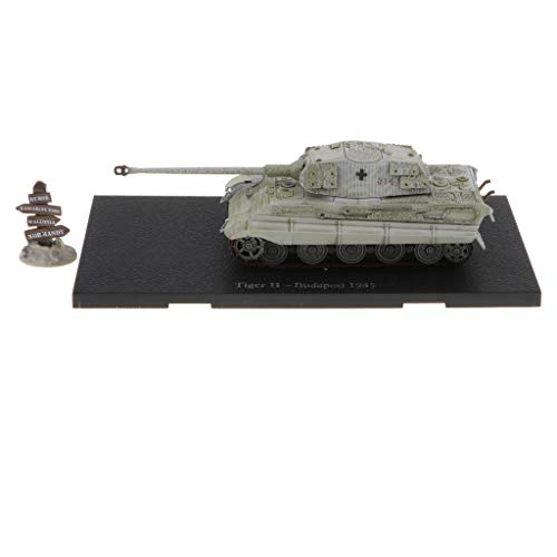B Blesiya 1:72 Scale Alloy WWII German Tiger II-Budapest 1945 Tank Destroyer Army Vehicles Model Toy Showcase Display ()