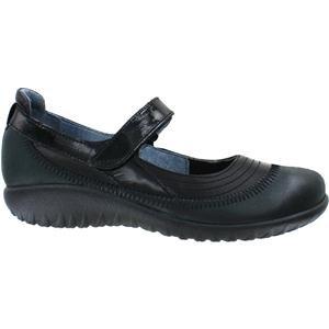 Naot Footwear Women's Kirei Black Madras Leather/Shiny Black Leather/Black Patent 37 (US Women's 6) (Naot Footwear Kirei)