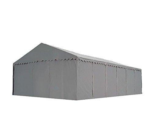 XXL Lagerzelt PROFESSIONAL 6x12m, hochwertige 550g/m² PVC Plane in grau, vollverzinkte Stahlkonstruktion, Ø Stahlrohre ca. 50 mm, Seitenhöhe ca. 2,6 m