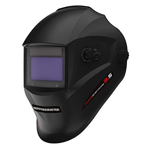 Monster&Master Large Viewing Screen Auto Darkening Welding Helmet, 4 Arc Sensor Wide Shade, MM-WH-002