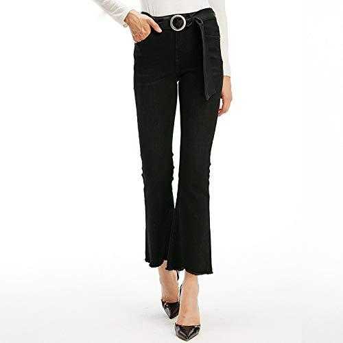 Xl Vita Nove Pantaloni Donna Jeans Micro Alta Lama Nero Leggera Mvguihzpo Xs xPI1Fx