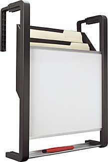 BON76760260 - Dry Erase Board with Three-Pocket Hanging File