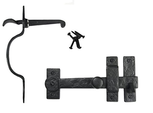 Iron Valley - Gate Kit - Drop Bar & Spear Thumb Latch - Solid Cast Iron - Thumb Bar