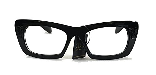 Men & Women's Square Bold Frame Clear Lens Fashion Glass - Glasses Clear Fashion Lense