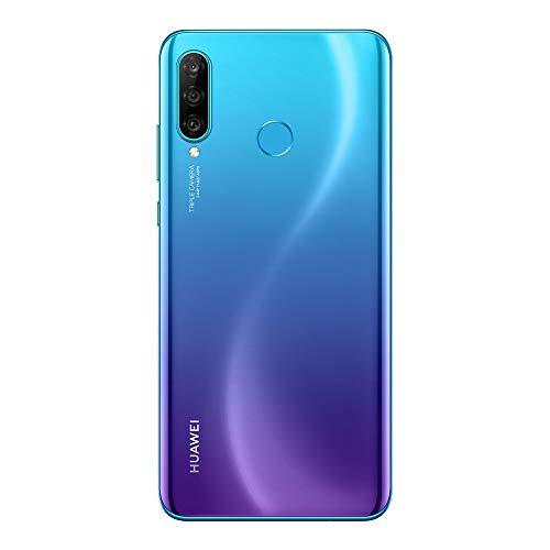 "Huawei P30 Lite (128GB, 4GB RAM) 6.2"" Display, AI Triple Camera, Dual-SIM Global GSM Factory Unlocked Phone - Peacock Blue"