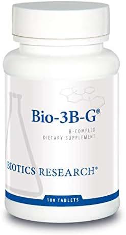 Bio-3B- G © Vitamin B Complex, Vitamin B Complex Supplement for Stress, Energy and Adrenal Health - Gluten Free Supplement byBiotics Research180c