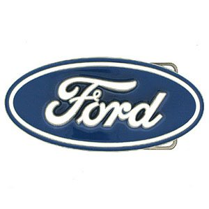 Blue Oval Ford Logo Belt Buckle Siskiyou Official, Ford Blue Oval, 4.5