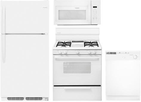 Frigidaire 4-Piece White Builder Package with FFTR1614TW 28