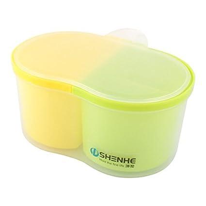 eDealMax plástico Home Utensilios de cocina 4 compartimientos condimento Especias almacenamiento Contenedor Condimentos