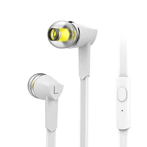 MXditect In Ear Headphones with Mic Stereo Sound White