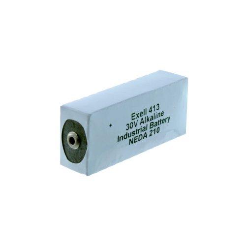 Exell Battery 413A Alkaline 30V Battery NEDA 210, 20F20, BLR123 ER413, White/Silver