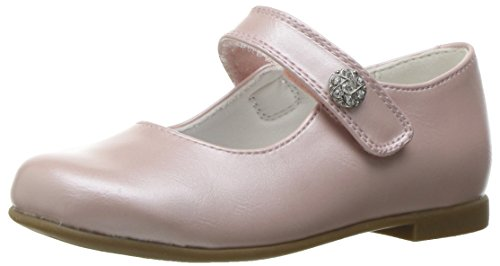 Rachel Shoes Girls' Lil Jackie Mary Jane, Pink Pearlized, 6 M US Toddler