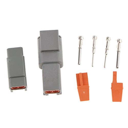 IPOTCH 1 Kit 2 Way Sealed Waterproof Electrical Wire Connector Plugs Terminals Set: