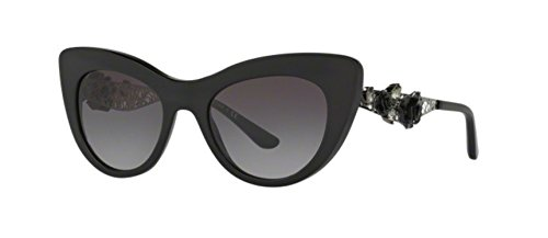 Dolce & Gabbana Women's Acetate Woman Cateye Sunglasses, Black, 50.0 - Dolce Sunglasses