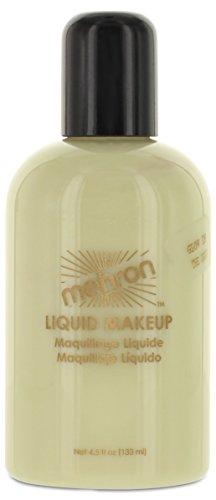 Mehron Makeup Liquid Face & Body Paint, GLOW-IN-THE-DARK – 4.5oz (Glow In The Dark Face Painting)
