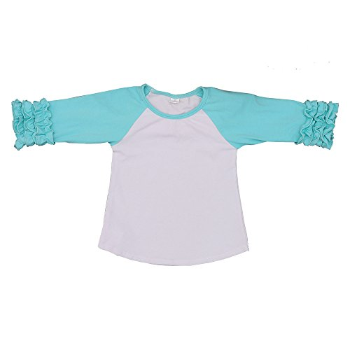 Kaiya Angel Toddler/Little Girl's Icing Ruffle Shirts Raglan Shirts 2-6 Years