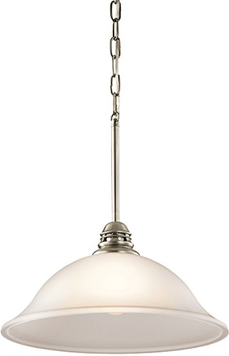 Kichler 42071APW Stafford Pendant 1-Light, Antique Pewter